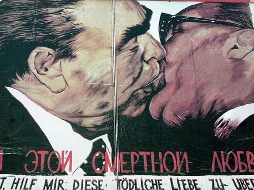 Dibujo en el Muro de Berlín